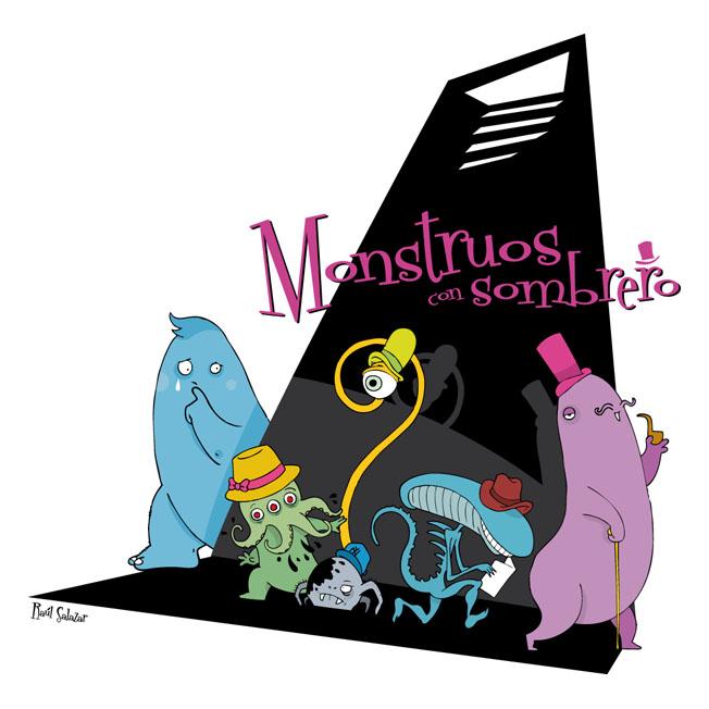 monstruos con sombrero