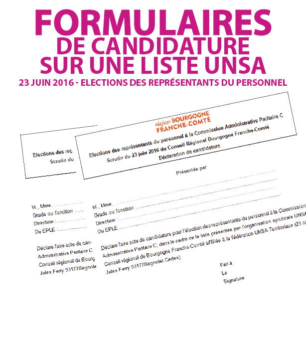 Candidat sur une liste UNSA-01