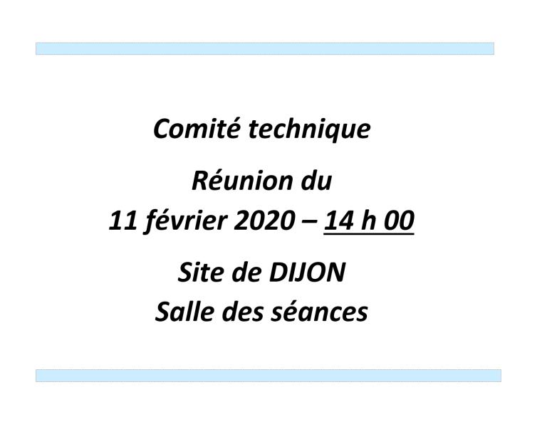 [UNSA] Ordre du jour du Comité technique du 11 février 2020