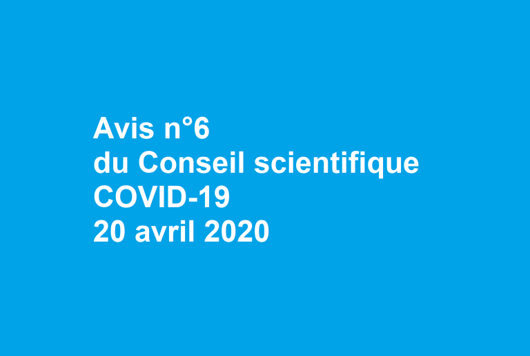 [UNSA] Consulter l'avis n°6 du Conseil scientifique COVID-19 20 avril 2020
