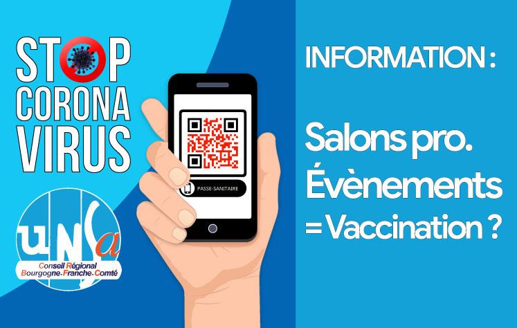 Participation à un salon ou événement professionnel, vaccination obligatoire ?