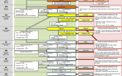 Schéma synthétique de la refonte de la filière sapeurs-pompiers professionnels