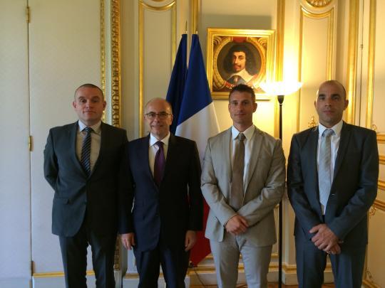 Rencontre avec le Ministre de l'intérieur Bernard Cazeneuve