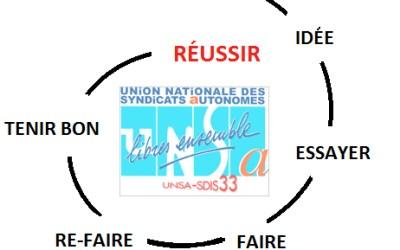 Le travail de l'UNSA-SDIS33 reconnu par le personnel !