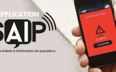 """L'application SAIP """"Système d'Alerte et d'Information des Populations"""""""