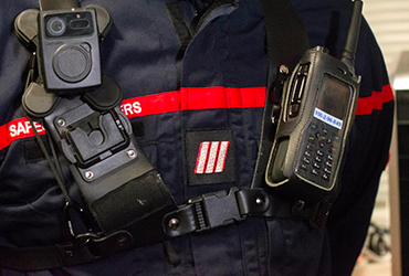 Lancement de l'expérimentation des caméras piéton au SDIS de la Gironde