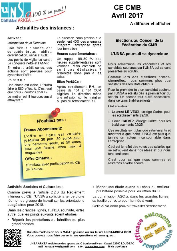 2017.04.27 UNSA CE CMB