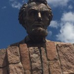 giant head of Abraham Lincoln