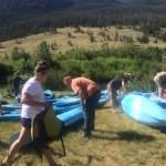 Extreme family fun kayaking in Wyoming