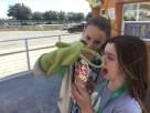 Gloups trying eat girls ice-cream