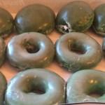 Green Irish donuts