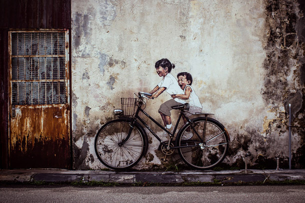 Armenian-Street-Art-Children-on-a-Bicycle