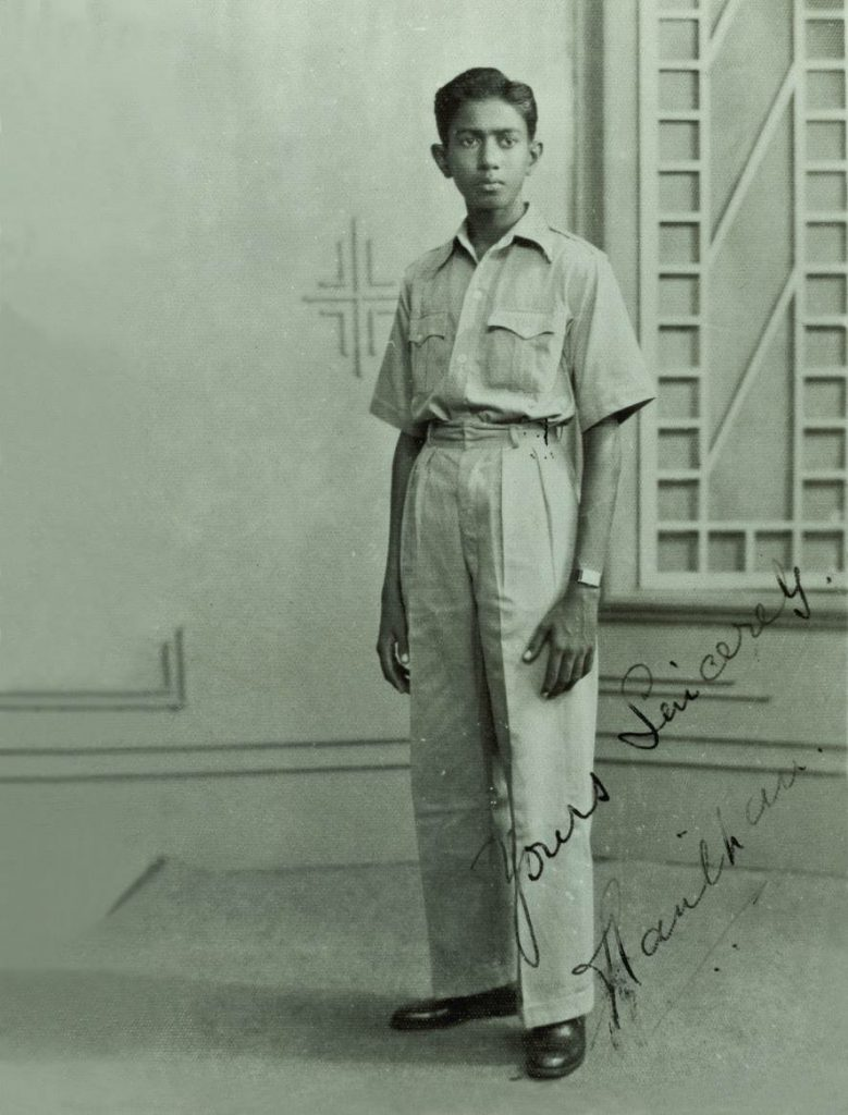 Mr S.R. Nathan at 18 years old (via TODAYonline)