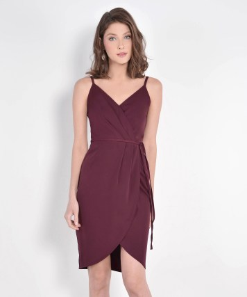 Bridesmaid dress HerVelvetVase LISBON TULIP DRESS - MAROON