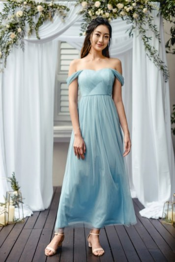 Bridesmaid dress Thread Theory Beloved By The Sea Maxi Dress (Smoke Blue)