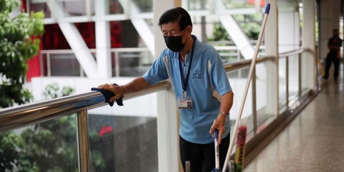 Cleaners in Singapore wage