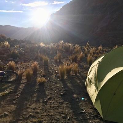 That evening's perfect campsite - Lago Pumacocha