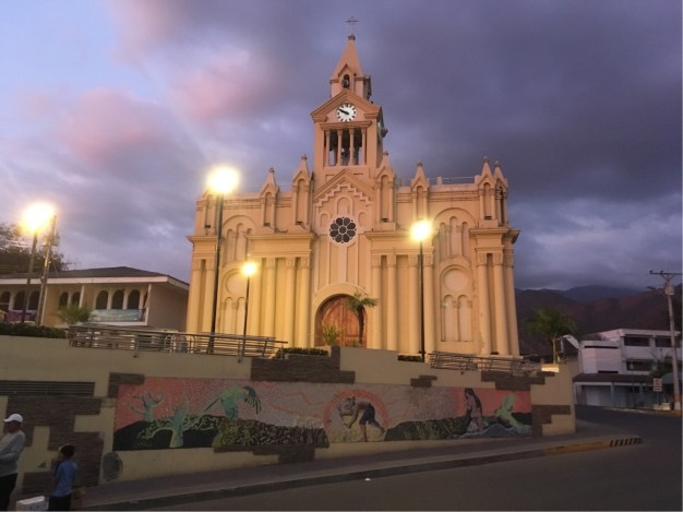 Church in Macara's main plaza