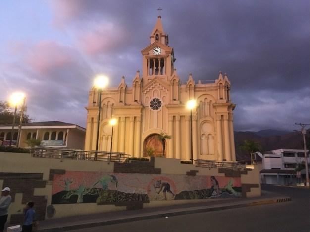 Church in Macara's main plaza