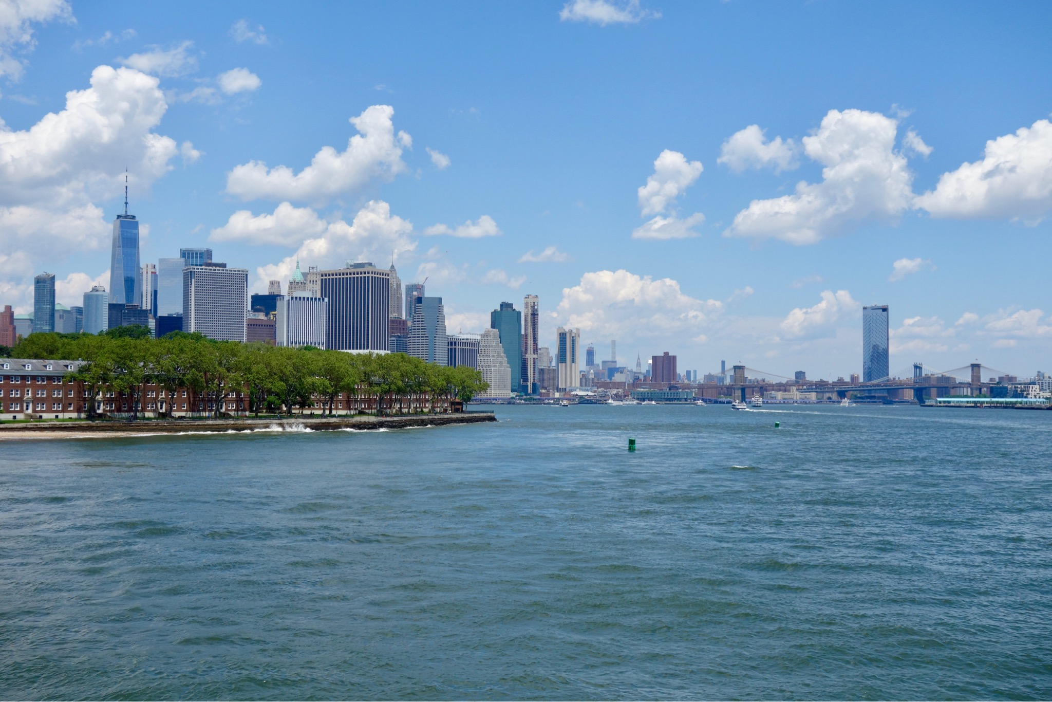 Looking towards Manhattan from New Jersey ferry to New York City