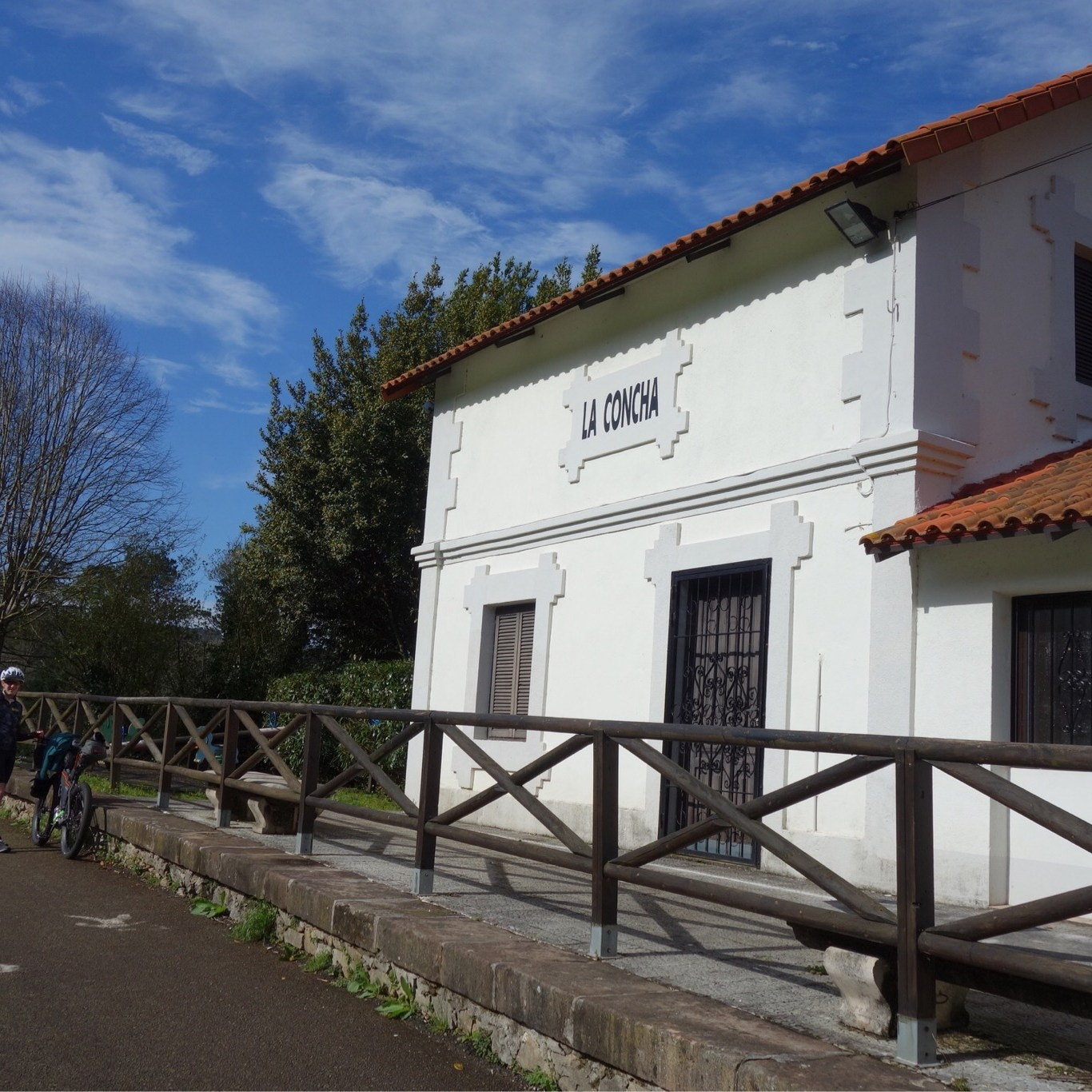 An old train station on a via verde in spain