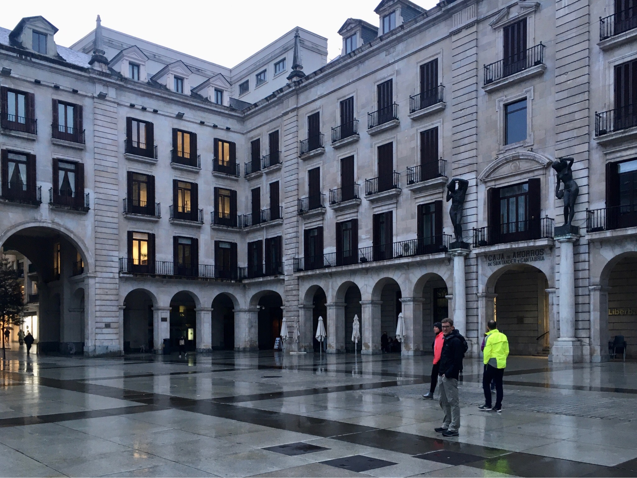Exploring Santander after getting off the ferry