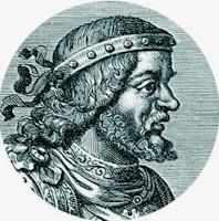 Grabado de Recaredo, rey visigodo