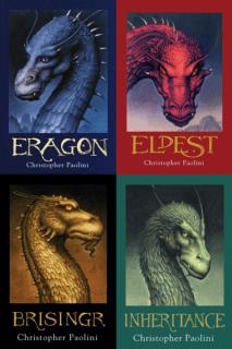 Portada de los cuatro libros de la saga de Eragon