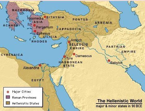 El mundo helenístico en el 90 a.C