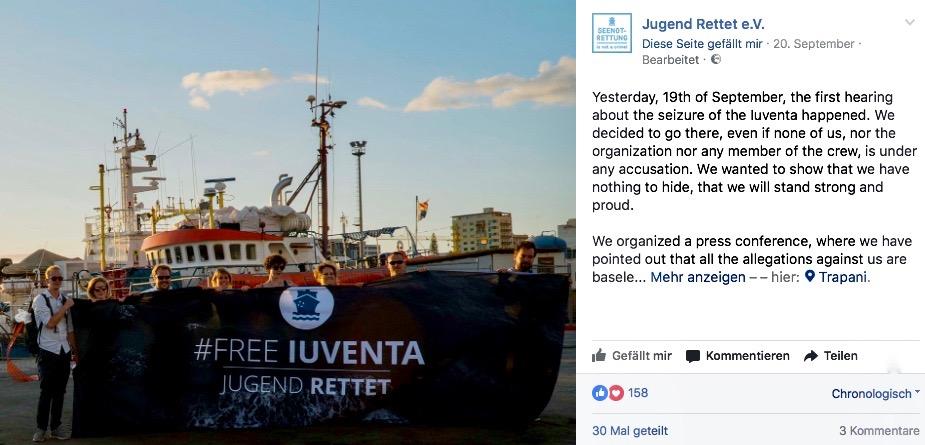 """Deutsche Schlepper-NGO """"Jugend Rettet"""" bekommet ihr Schiff nicht mehr"""