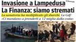 """Lampedusa: Dutzende Infizierte landen, Ansteckungen breiten sich aus, Polizei: """"Lage außer Kontrolle"""""""