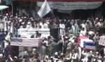 Taliban-Fans veranstalten Scheinbegräbnis für die USA und ihre Alliierten (Video)