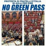 Abgeordnete der Fratelli d'Italia kämpfen gegen den Impfpass