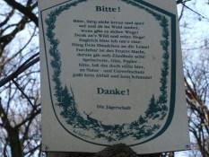 Foto Schild der Jägerschaft