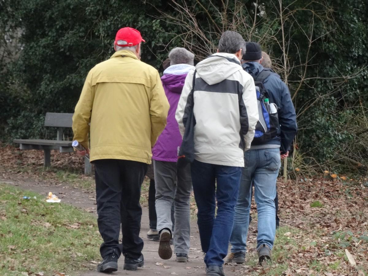 Foto Gruppe auf dem Heimweg