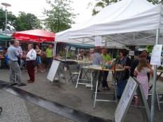 Foto großer Stand vom Quartiersprojekt Hagelkreuz und der Senioren-Initiative