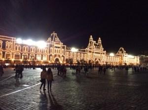 Foto Moskaus Roter Platz bei Nacht