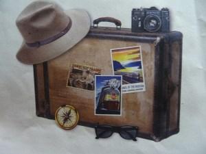 Foto mit Reisekoffer, denn reisen macht Spaß