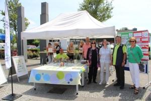 Foto Infostand Quartiersentwicklung Hagelkreuz