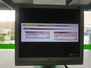 Bildschirmpräsentation auf dem Concordienplatz
