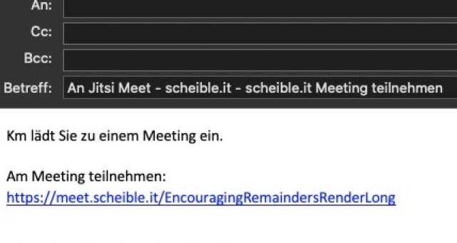 Screenshot E-Mail Einladung Jitsi Meeting