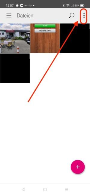 Screenshot gespeicherte Dateien
