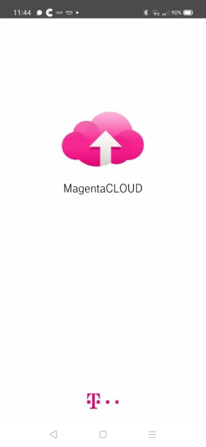 Sreenshot Startbild Magenta Cloud