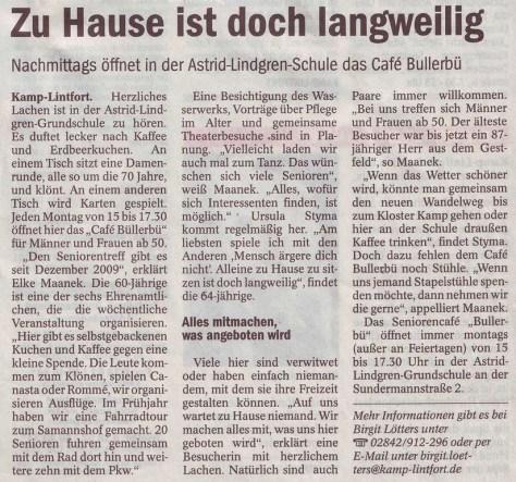Pressemitteilung NRZ 06.2010