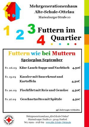 Futtern wie bei Muttern September 2019