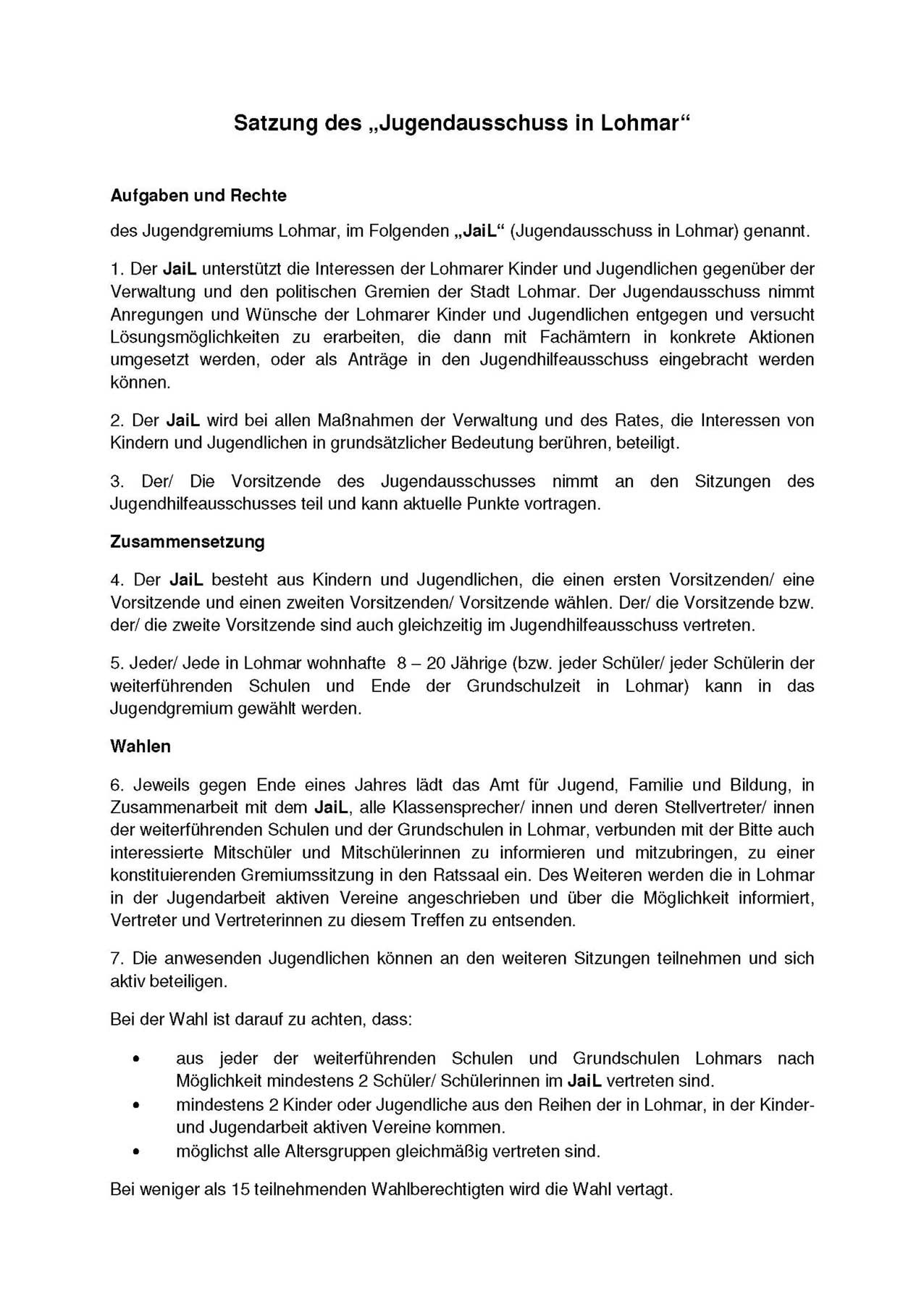 JaiL-Satzung 2016