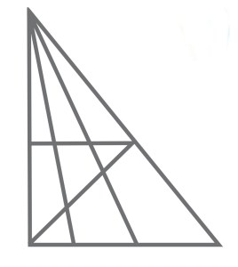 Wie viele Dreiecke finden Sie?