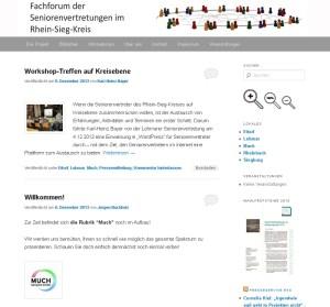 Screenshot Fachforum der Seniorenvertretungen