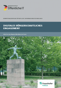 Cover Digitales Bürgerschaftliches Engagement