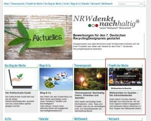 Adventskalender auf NRW denkt nachhaltig
